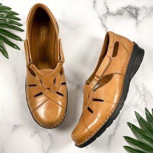 Clarks Bendables 10W Wide Nikki Comfort Loafers